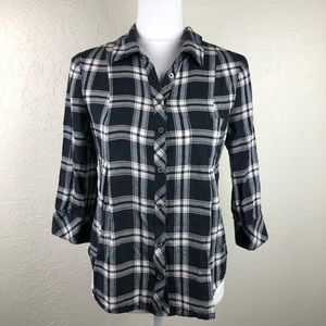 Joie Button Down Flannel Size Small B1